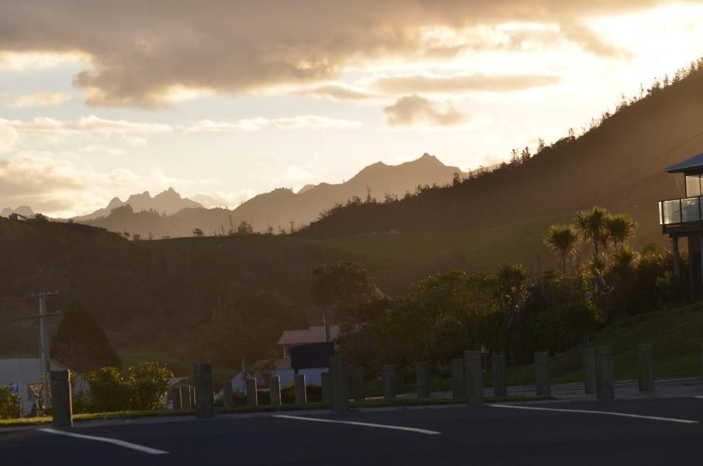 Pôr do Sol em Rotorua